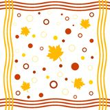 Framed fall design. Funky framed fall leaves and circles design Royalty Free Stock Image