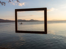 Framed fisherman Royalty Free Stock Photo
