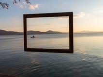 Framed fisherman Royalty Free Stock Photo