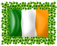 A framed flag of Ireland Stock Images