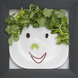 Framed Food royalty free stock images