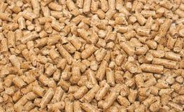 Framed fuel. Pile of wood pellet fuel Stock Image
