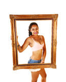 Framed girl. Royalty Free Stock Photography