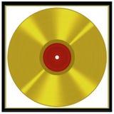 Framed gold disc - music award style Stock Photo