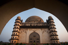 Framed Golgumbaz Main Entrance Arch South Facade Royalty Free Stock Images