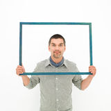 Framed headshot Royalty Free Stock Images