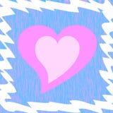 Framed heart Stock Photography