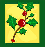 Framed Holly and Berry Plant Royalty Free Stock Image