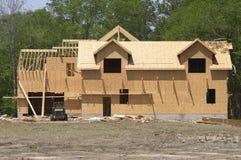 Framed house. Full view of framed house stock photography