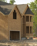Framed house. House being built royalty free stock image