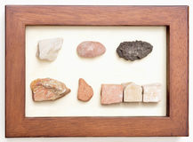 Framed Israel Stones Royalty Free Stock Photography
