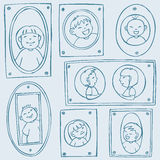 Framed Kids Pattern Royalty Free Stock Photography