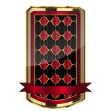 Framed label. Illustration of gold-framed label Royalty Free Stock Image