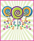 Framed Lollipops Stock Photo
