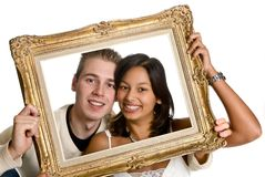 Framed love Stock Photography
