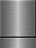 Framed metal plate Stock Image
