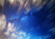 Framed and Milky. The Milky Way framed by the movement of clouds across the sky royalty free stock photography