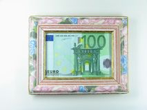 Framed money Royalty Free Stock Photo
