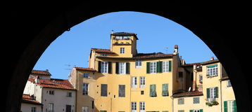 Framed old town of Lucca Stock Photos