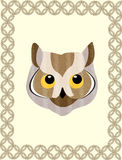 Framed Owl Royalty Free Stock Photography