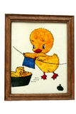 Framed painting of little chicken Royalty Free Stock Photo