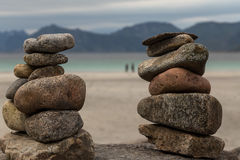 Framed by pebbles Royalty Free Stock Photography