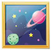 A framed picture of the space Royalty Free Stock Photos