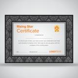 Framed professional grey certificate Stock Image