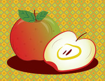 Framed Red Apple Royalty Free Stock Images