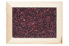 Framed red kidney beans Royalty Free Stock Photos