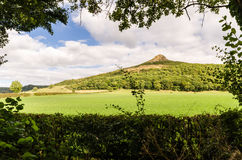Framed Roseberry Topping. Roseberry Topping is an iconic landmark on the border of North Yorkshire an Teesside Royalty Free Stock Images