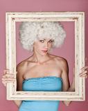 Framed sexy woman. Royalty Free Stock Image