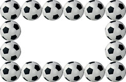 Framed soccer balls Stock Photography