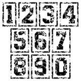 Framed Sport numbers. Basketball signs set. Framed Sport numbers isolated on white background. Vector illustration Stock Images