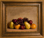 Framed Still Life Fruit Arrangement Royalty Free Stock Images