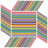 Framed stripes of color Stock Photo