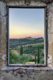 Framed view from an old window1 Royalty Free Stock Photo