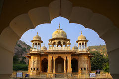 Framed view of Royal cenotaphs in Jaipur, Rajasthan, India Stock Photos
