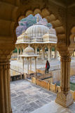 Framed view of Royal cenotaphs in Jaipur, Rajasthan, India Stock Photos