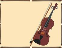 Framed Violin Royalty Free Stock Image