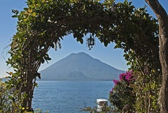 Framed Volcano In Guatemala Royalty Free Stock Photography