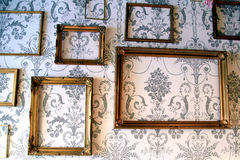 Framed wallpaper. Stock Images