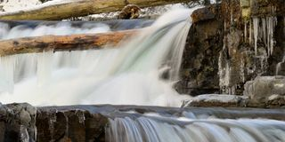 Framed waterfalls Royalty Free Stock Photo