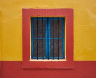 Framed window colors stock photo