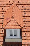 Framed window on the roof Royalty Free Stock Photography