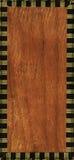 Framed wood. Bottom of vintage cigar case Royalty Free Stock Photo