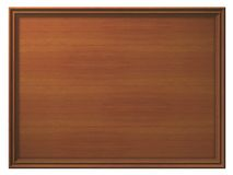 Framed Wooden Panel. A panel made of wooden planks with a frame. Empty space inside to be filled with customized content Royalty Free Stock Photography