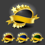 framedl złoto przylepiać etykietkę premię royalty ilustracja