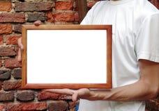 framein χέρια Στοκ Φωτογραφίες