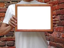 Framein hands Stock Photo